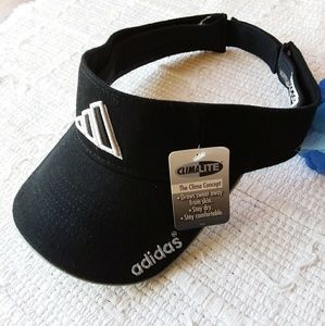 adidas Accessories - adidas • Athletic Visor Climalite Black and White